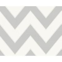 Tapeta 9394-35 Szaro Biały Zig Zag