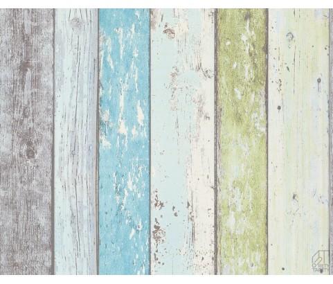 Tapeta 8550-77 Stare Kolorowe Deski