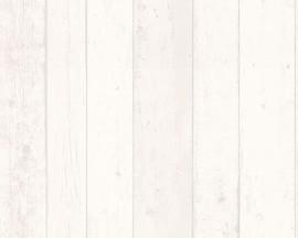 Tapeta na flizelinie niemieckiej firmy A.S. Creation z kolekcji Surf and Sailing. Ten wzór todoskonała imitacja surowych, starych, bielonych desek.
