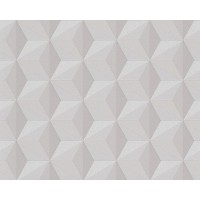 Tapeta 9625-51 Beżowe Sześciany-Wzory 3D