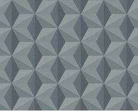 Tapeta 96255-2 Grafitowe Sześciany- Wzory 3D