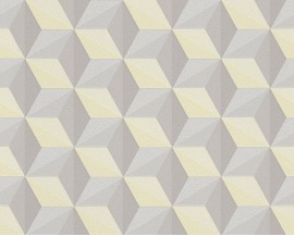 Tapeta 96255-3 Cytrynowe Wzory 3D