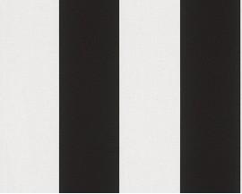Tapeta 3342-13 Biało- czarne Pasy