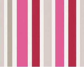 Tapeta na flizelinie niemieckiej firmy A.S. Creation z dziecięcej kolekcji Esprit Kids.Wzór todelikatne różowe paseczki na białym tle idealne do pokoju dziewczynki.