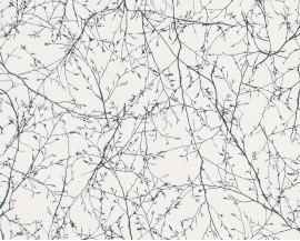 Tapeta na flizelinie niemieckiej firmy A.S. Creation z kolekcji Elegance 3. Ten wzór todelikatne, czarne gałęzie drzew na białym tle.