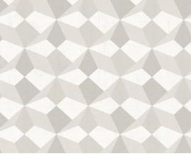 Tapeta papierowana flizelinie niemieckiej firmy AS Creation z kolekcji Scandinavian Style. Ten wzór to delikatne graficzne wzory w kolorach jasnego beżu i szarości.