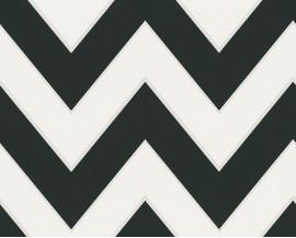 Tapeta na flizelinie niemieckiej firmy A.S. Creation z kolekcji Metropolis by MICHALSKY LIVING. Ten wzór nowoczesne, czarno-białe zigzaki.
