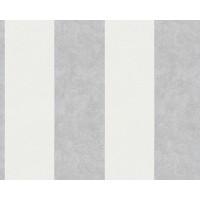 Tapeta 32990-2 Biało Szare Pasy