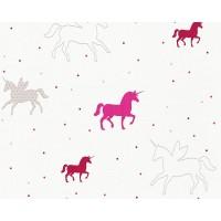 Tapeta Esprit Kids 35704-2 Różowe Jednorożce
