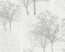 Tapeta winylowa na flizelinie niemieckiej firmy A.S. Creation z kolekcji Elegance 5. Ten wzór todelikatne drzewa w beżowych odcieniach.