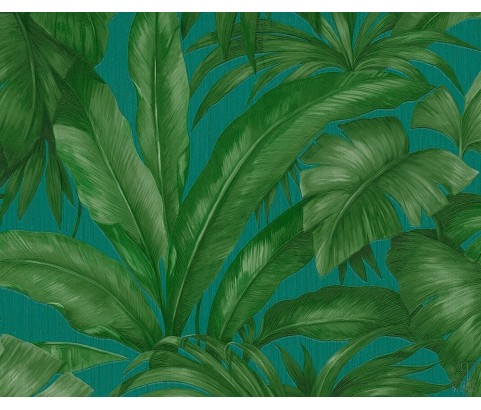 Tapeta VERSACE 96240-6 Zielone Liście Palmy