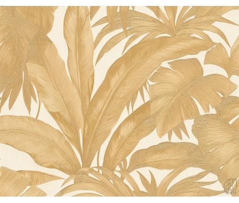 Tapeta VERSACE 96240-4 Złote Liście Palmy