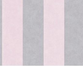 Tapeta 32990-3 Biało Różowe Pasy