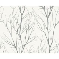 Tapeta 37260-4 Grafitowe Gałęzie Drzewa
