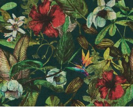 Tapeta 37216-5 Czerwony Kwiat