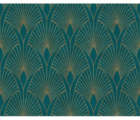 Tapeta 37427-5 Turkusowe wzory Art Deco