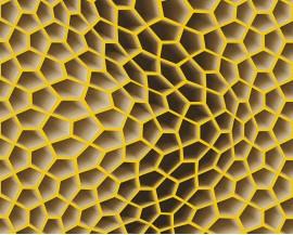 Tapeta 32709-5 Żółte Plastry Miodu