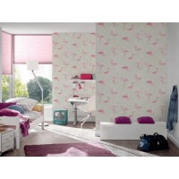 Tapeta 35980-1 Różowe Flamingi