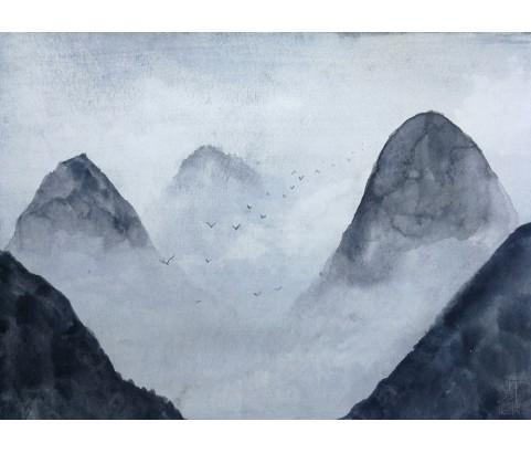 Fototapeta Malowane góry