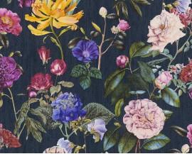 Tapeta 37336-4 Granatowe Polne Kwiaty