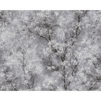Tapeta 37420-1 Szary Kwiat Wiśni
