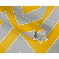 Tapeta Michalsky 34775-4 Szary żółty zygzak