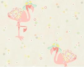 Tapeta 3629-11 Różowe flamingi