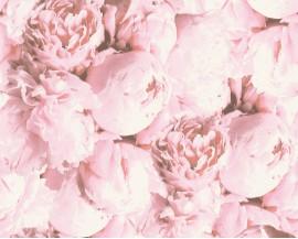 Tapeta 37398-3 Różowe Piwonie 3D
