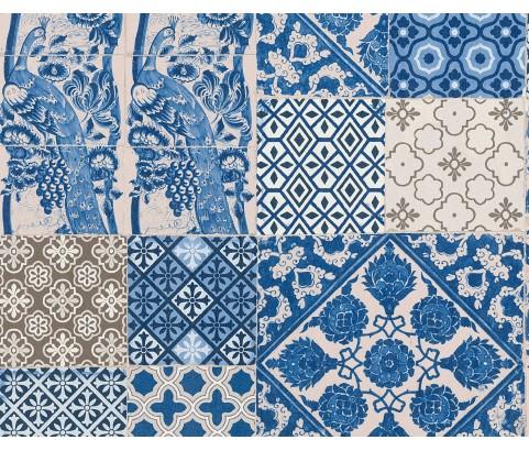 Tapeta 36923-1 Portugalskie niebieski płytki