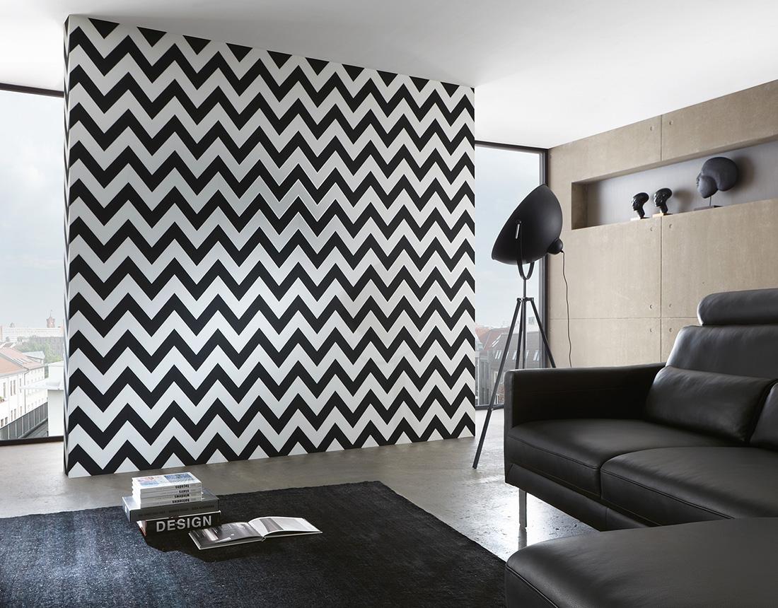 wybieramy tapet do nowoczesnego wn trza. Black Bedroom Furniture Sets. Home Design Ideas